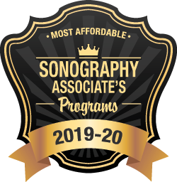 Most Affordable Sonography Associates Programs Badge